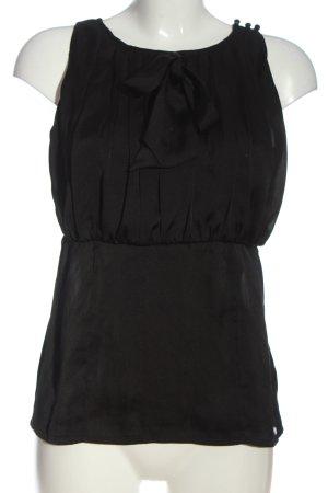suisses collection Tie-neck Blouse black business style