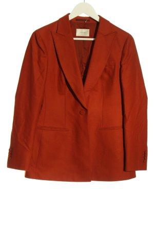 SUISTUDIO Blazer en laine rouge style décontracté