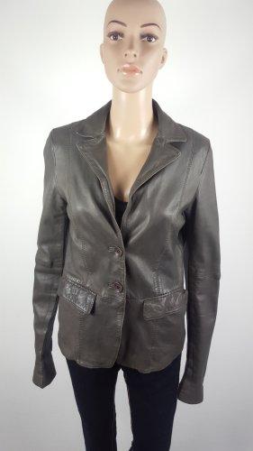 Suit 412 by Oakwood Damen Echtleder Blazer Jacke Schafleder grau Größe L