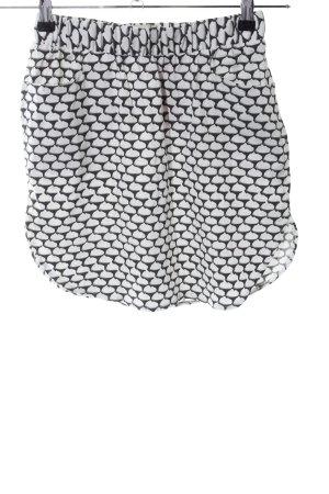 Suit Minirock schwarz-weiß Allover-Druck Casual-Look
