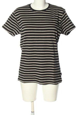 Suit Stripe Shirt black-cream striped pattern casual look