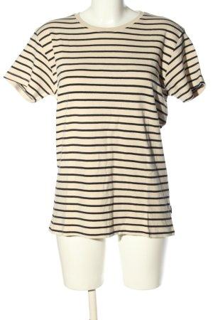 Suit Stripe Shirt cream-black allover print casual look