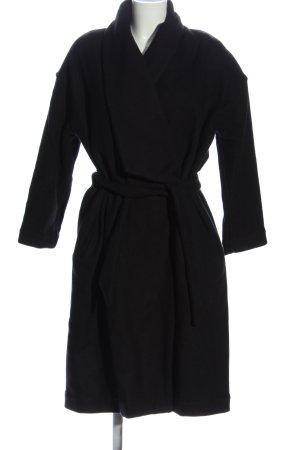 suite 13 Długi płaszcz czarny W stylu biznesowym