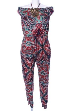 Suiteblanco Jumpsuit abstraktes Muster Casual-Look