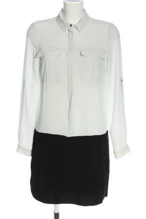 Suiteblanco Langarmkleid weiß-schwarz Elegant