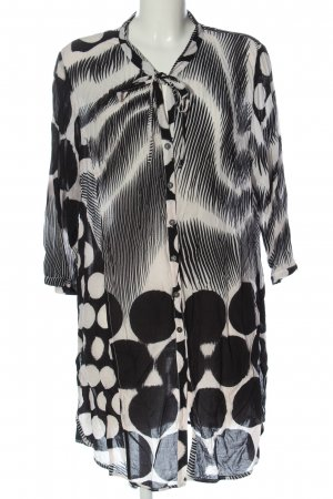 SULU Kerstin Bernecker Long Blouse white abstract pattern business style