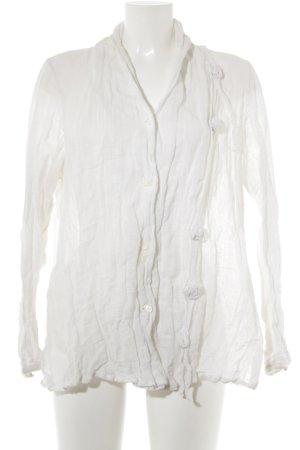 SULU Kerstin Bernecker Blusenjacke wollweiß extravaganter Stil