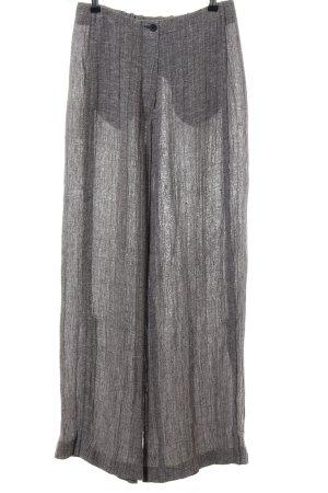 SULU Kerstin Bernecker Pantalon en lin gris clair moucheté style décontracté