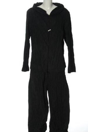 SULU Kerstin Bernecker Twin set in tessuto nero puntinato stile casual