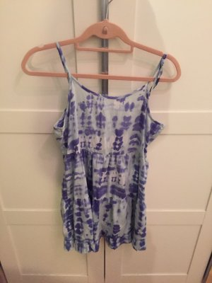 Summer blue acid wash dress