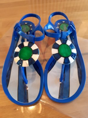 menghi High-Heeled Toe-Post Sandals multicolored