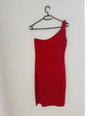 summer dress # red # one shoulder