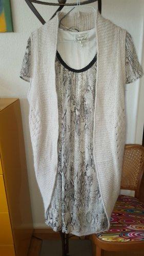 Summum Cappotto a maglia grigio chiaro-beige chiaro Mohair