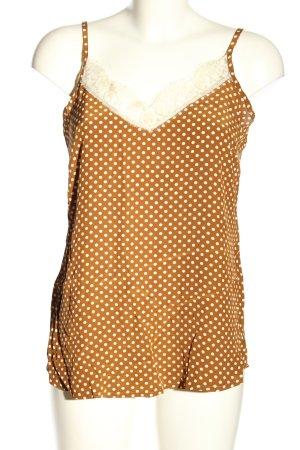 Summum Blusa arancione chiaro-bianco motivo a pallini stile casual