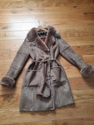 Summum Manteau en fausse fourrure brun