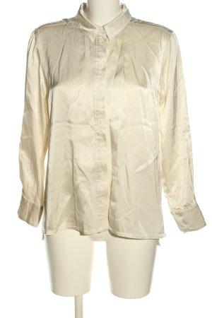 Summum Połyskująca bluzka kremowy W stylu biznesowym