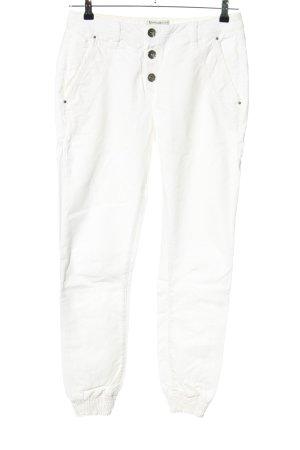 Summum Pantalone jersey bianco stile casual