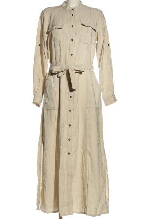 Summum Koszulowa sukienka kremowy W stylu biznesowym
