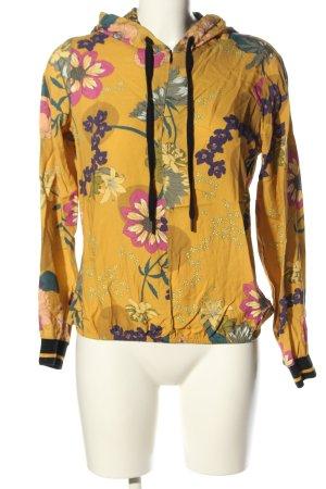 Summum Top à capuche motif de fleur style décontracté