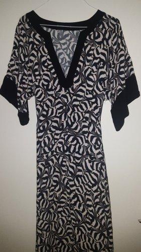 Summum Kleid schwarz creme Gürtel Gr.34