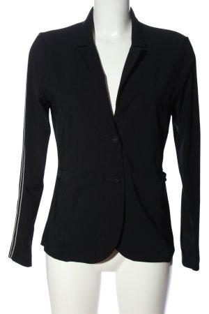 Summum Kurz-Blazer schwarz-weiß Streifenmuster Casual-Look