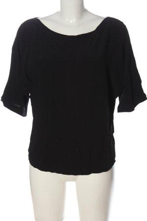 Summum Camicetta a maniche corte nero stile casual
