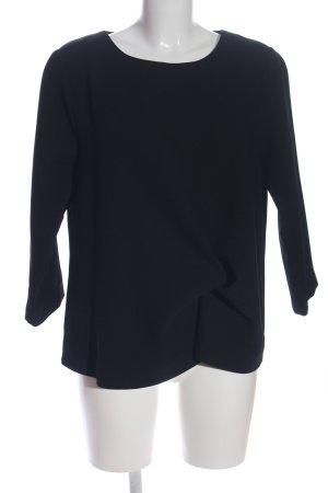 Summum Langarm-Bluse schwarz Casual-Look