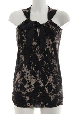 Summum Longtop schwarz-creme abstraktes Muster Casual-Look