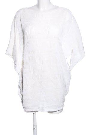 Summum Rundhalspullover weiß grafisches Muster Casual-Look