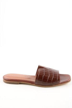 Summum Sabot brązowy Zwierzęcy wzór W stylu casual