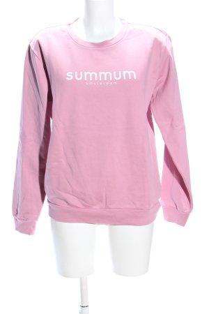 Summum Sweatshirt pink Schriftzug gedruckt Casual-Look