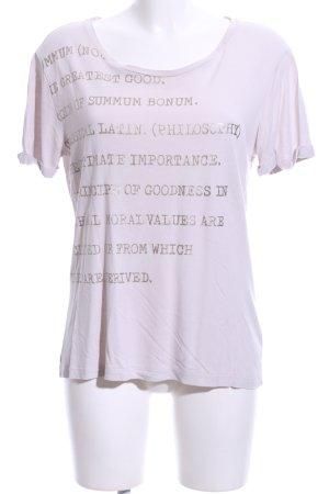 Summum T-Shirt wollweiß Schriftzug gedruckt Casual-Look