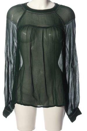 Summum Transparenz-Bluse khaki Business-Look