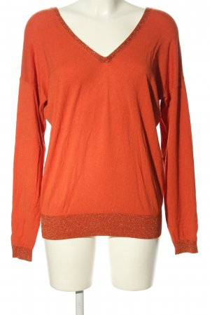 Summum V-Ausschnitt-Pullover hellorange Casual-Look