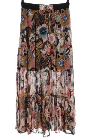 Summum Spódnica z falbanami brązowy-różowy Na całej powierzchni