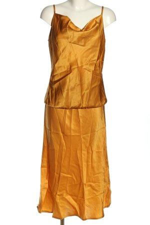 Summum Podwójny zestaw ze splotu siatka jasny pomarańczowy W stylu casual