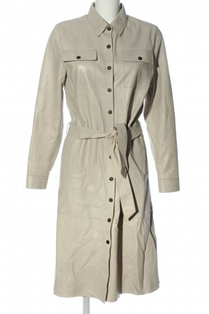 summum woman Robe en cuir blanc cassé style décontracté