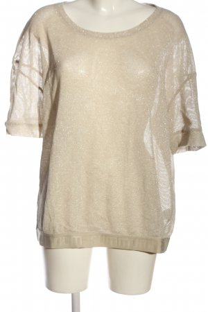 summum woman Mesh Shirt cream casual look