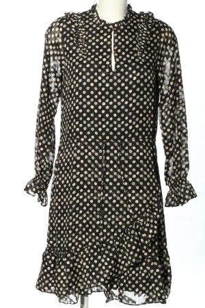 summum woman Sukienka tunika czarny-w kolorze białej wełny Wzór w kropki