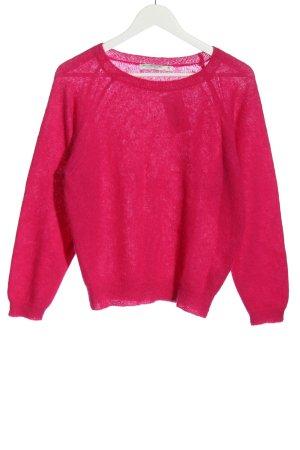 summum woman Pull en laine rose style décontracté