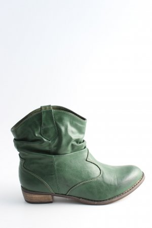 Boots western vert style décontracté