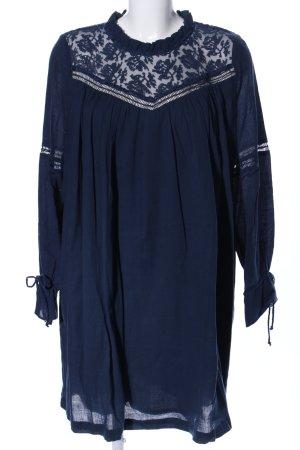 Suncoo Blusenkleid blau Blumenmuster Casual-Look