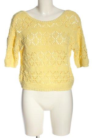 Suncoo Szydełkowany sweter bladożółty W stylu casual