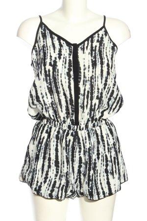 Suncoo Jumpsuit weiß-schwarz Allover-Druck Casual-Look