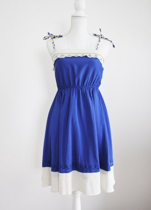 Suncoo Midikleid, blau-weiß, Gr. onesize, Casual-Look