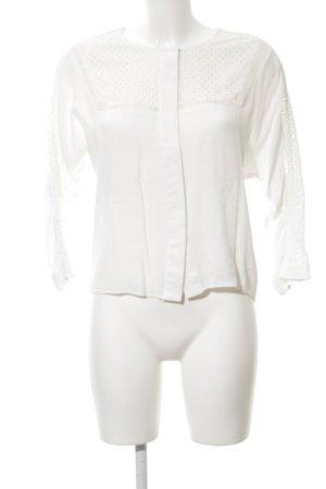 Suncoo Blusa in merletto bianco sporco stile casual