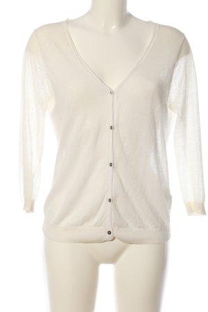 Suncoo Cardigan in maglia bianco stile casual