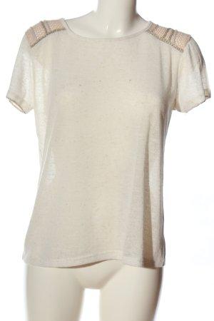 Suncoo Camicia maglia bianco sporco puntinato stile casual