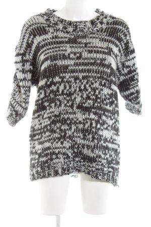 Suncoo Strickpullover schwarz-weiß Casual-Look