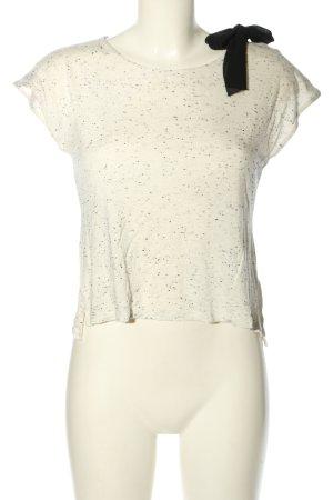 Suncoo T-shirt bianco sporco puntinato stile casual